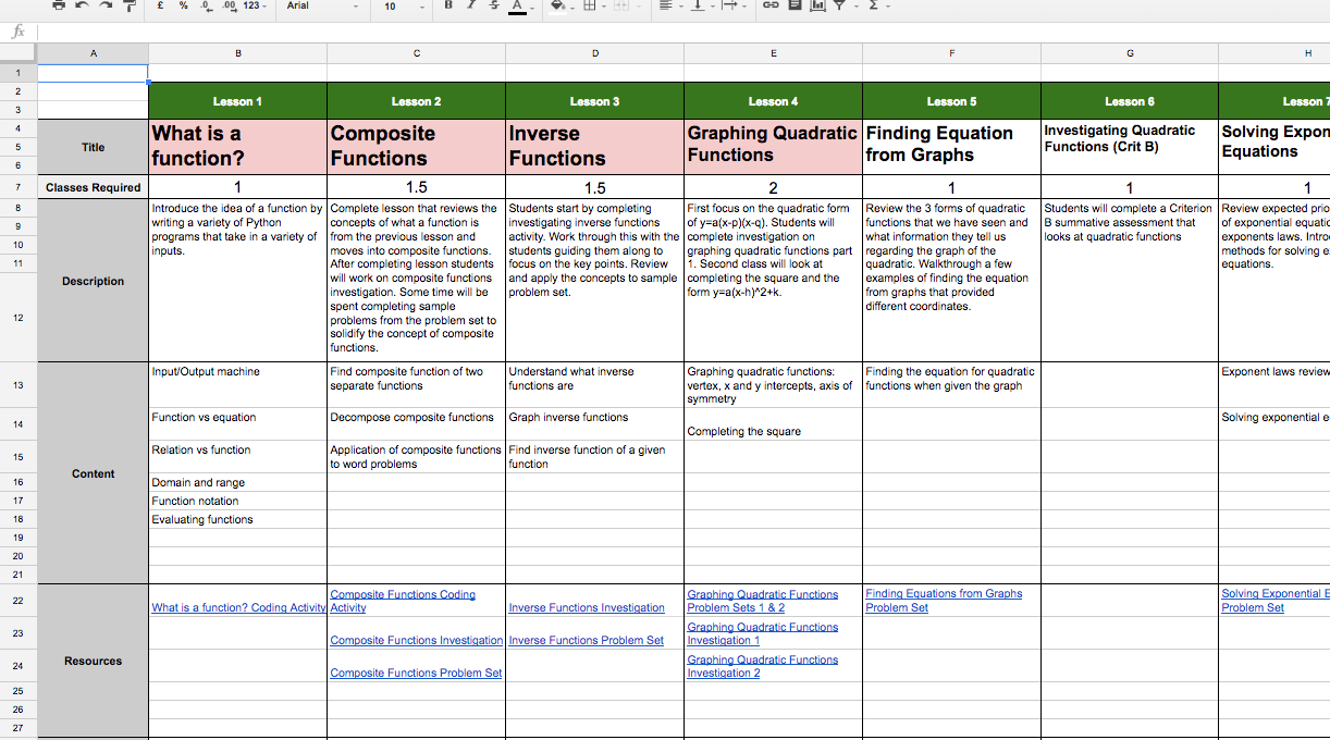 Organizing my Teaching with Google Sheets and Trello